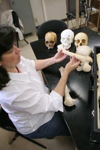 Forensic anthropologist Michelle Hamilton