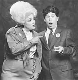 Margaret Wiley as Ann Richards, Stephen Crabtree as George W. Bush