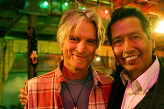 Blood brothers: Stephen Bruton (l) and Alejandro Escovedo, 2008