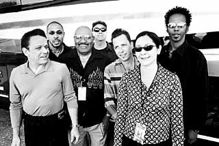 (l-r): Jimmie Vaughan, Charlie Whittington, Bill Willis, George Rains, Billy Pittman, Lou Ann Barton, and Greg Sain