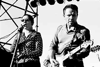 Lou Ann Barton and Jimmie Vaughan at the B.B. King Blues Fest, Auditorium Shores, October 7