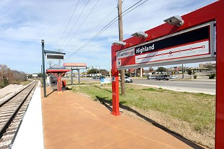 The Highland Mall transit stop (to be)
