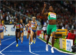 Gold Medalist Caster Semenya of South Africa
