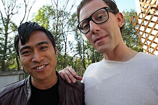 Filmmaker PJ Raval (l) and Paul Soileau