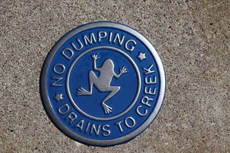 Best Reason To Keep Your Mind in the Gutter: New Storm Drain Markers