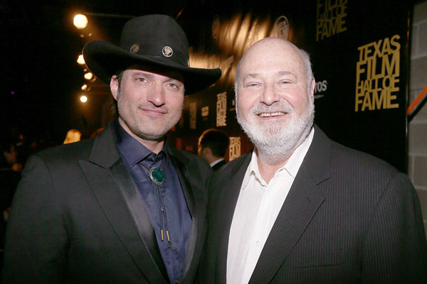 Robert Rodriguez and Rob Reiner at the 13th annual Texas Film Hall of Fame Awards at Austin Studios, March 7, 2013