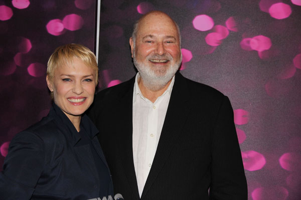 Robin Wright and Rob Reiner