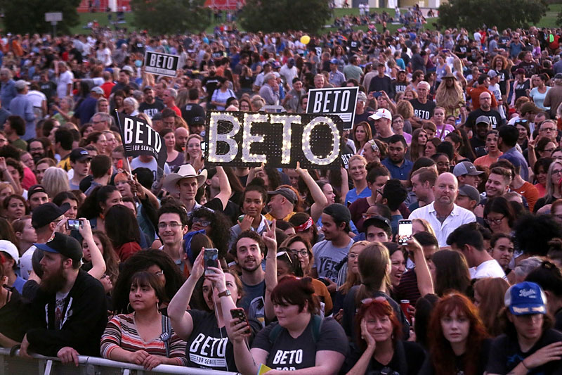 Beto O Rourke Rally With Willie Nelson 6 Of 59 Photos