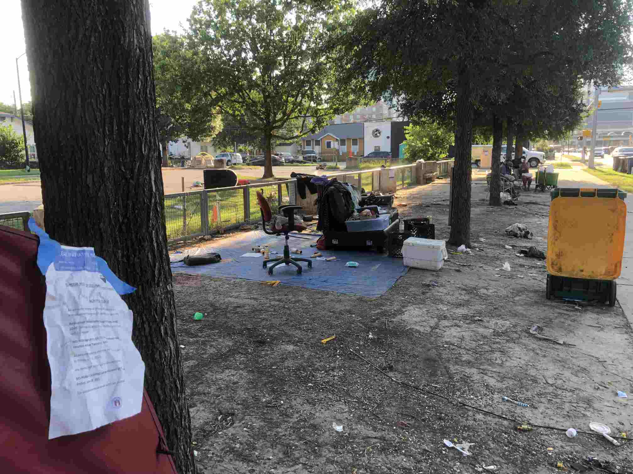 """Unhoused Moved to """"Bridge Shelter"""" As City HEALs Its First Encampment"""