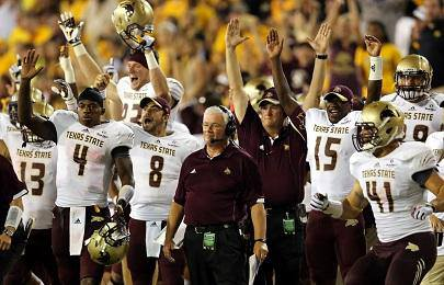 texas state is on the rise apparently there can only be one good