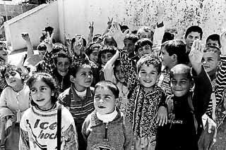School children in Dheisheh. The two elementary schools in the camp