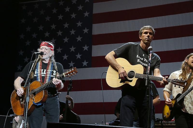 b11e48c886a Willie Nelson Unites America  A guitar-strumming Beto O Rourke tries ...
