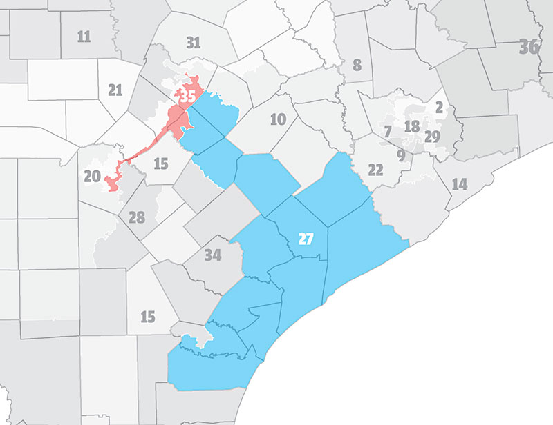 Naked City Texas Will Use Racial Maps In 2018 Elections Scotus - Texas-on-the-us-map
