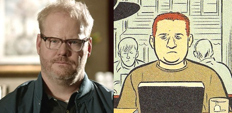 One of these characters was drawn by Daniel Clowes. So, it seems, was the other one.