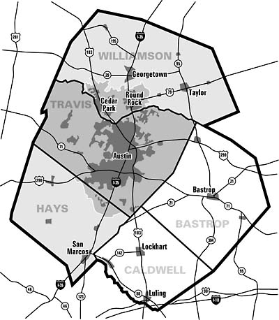 Redrawing The Road Map CAMPO Expansion Can Change The Rules Of - Austin metro area map