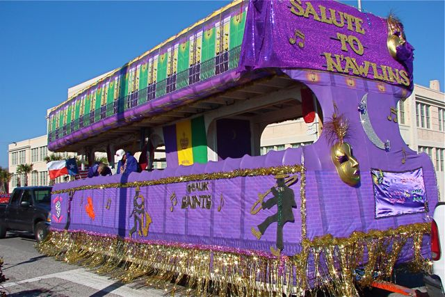 Who Dat Rollin On Dat Float Mardi Gras 2010 There S