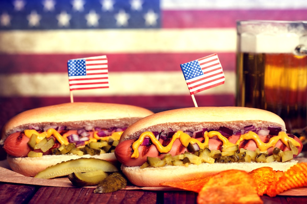 Fourth Of July Hot Dogs And Innuendos Tubular Hot Meat Is The