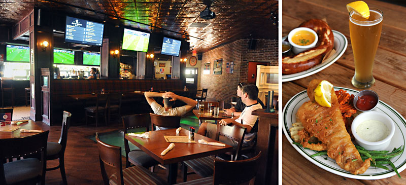 What It Is An Irish Pub That Takes Football More Seriously Than The Menu Has Plenty Of Favorites From Across Pond Like Guinness Battered Fish