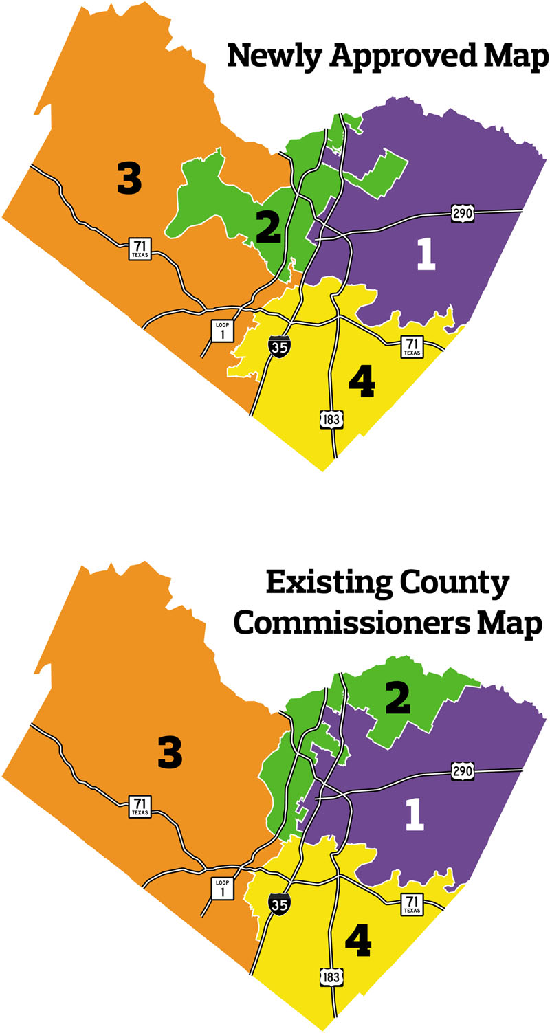 Travis County Precinct Map New Map Poses Challenges for Huber   News   The Austin Chronicle