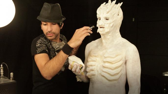Matt Valentine Goes Subterranean For His Interstellar Albino Cave Dweller  (Photo Courtesy Of SyFy)