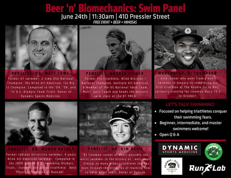 Beer 'n' Biomechanics: Swim Panel - Community Calendar - The