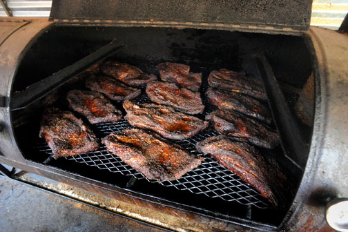 Perfect briskets in the Franklin pit