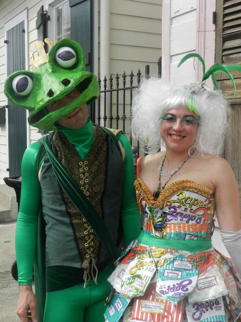 Here's a LOOK BOOK of some costuming ideas. Perhaps this gorgeous Mardi Gras unicorn will help summon your inner mythical beast? CLICK on the link above for the full gallery.