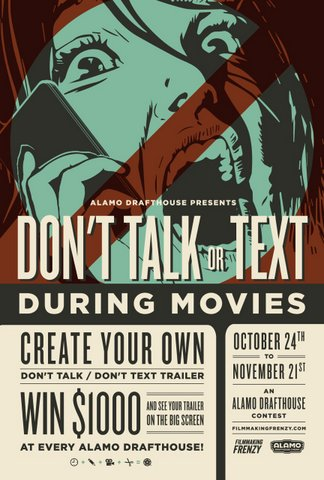 Alamo Drafthouse Launches New 'Don't Talk' Contest