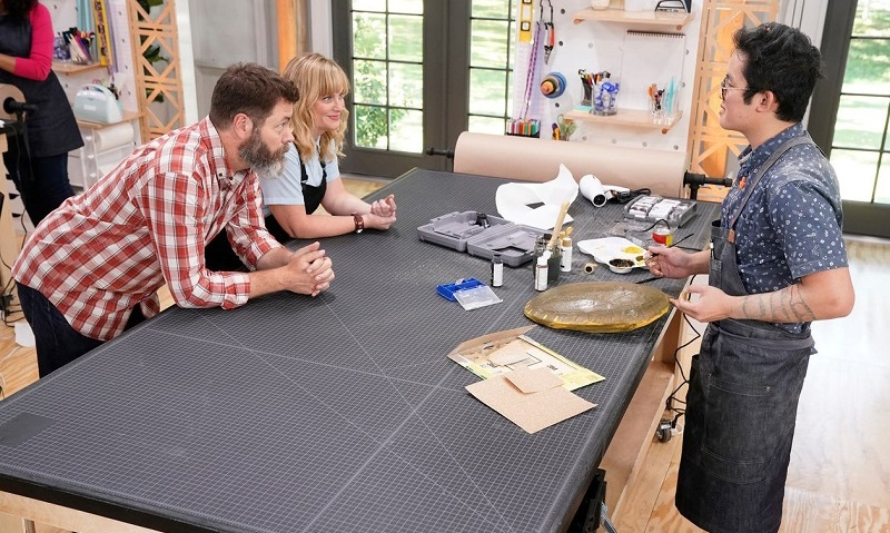 khiem nguyen is making it crafty reality competition star on wood and nick offerman screens. Black Bedroom Furniture Sets. Home Design Ideas