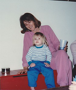 Debra Baker with her daughter Caitlin