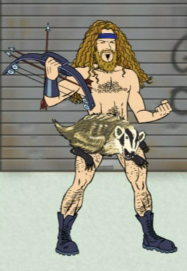 Ted Nugent, as accurately depicted in Aqua Teen Hunger Force