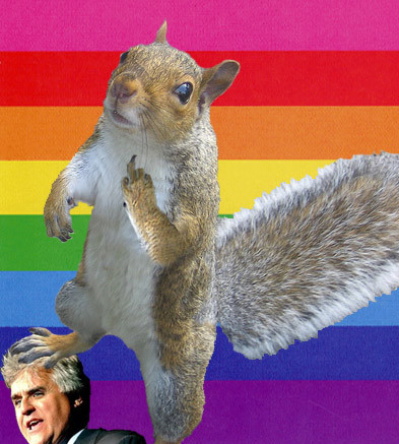 Da Squirrel Queen weighs in. photo by www.mygayestlook.com. Hee hee hee.
