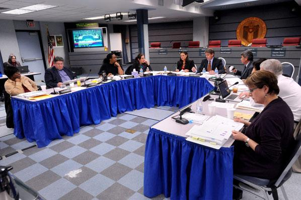 Austin ISD board of trustees at last week's work session: Tonight is the big vote on IDEA Public Schools, but are they really ready to move forward?