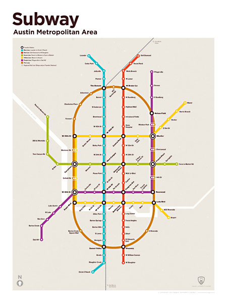 Austin Subway Map