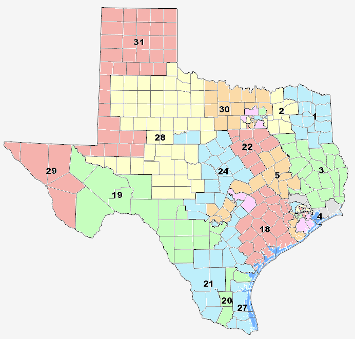 The Texas Legislature Finally Releases New Proposed Congressional - Us senate district map