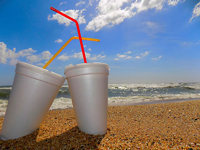 what s the deal with styrofoam cups and plastic drinking straws