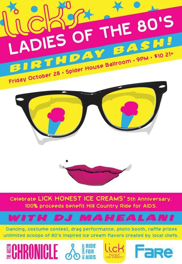 Lick's Ladies of the 80's Birthday Bash - Events - Events ...