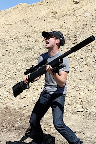 Elijah Wood and his Massive Motherfucking Boom Stick.