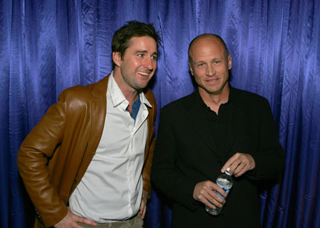 [image-1]  Luke Wilson (l) took time out to celebrate honoree Mike Judge (Wilson starred in Judge's last feature, Idiocracy). After being introduced by animated cohort Hank Hill, Judge began his acceptance speech,