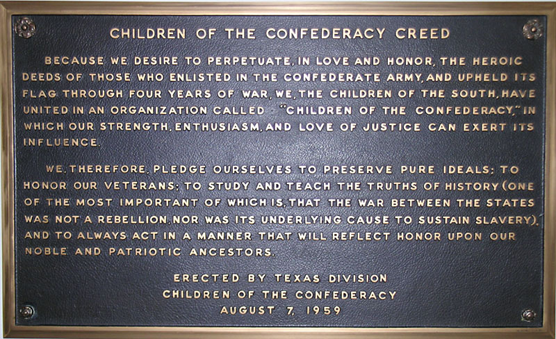 Image result for CHILDREN OF THE CONFEDERACY PLAQUE REMOVED
