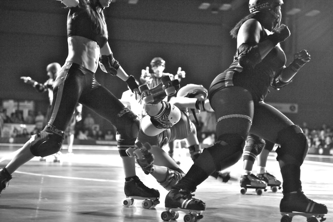 opening the book on roller derby  local photographer