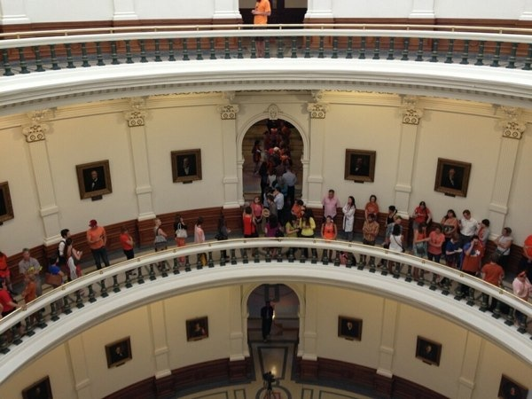 Stand With Wendy: Protesters Stage Sit-In At Texas Capitol Rotunda To Support ...