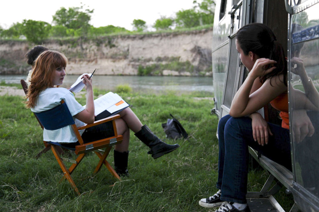 Writer/director Carlyn Hudson (left), one of Austin's rising tide of female filmmakers