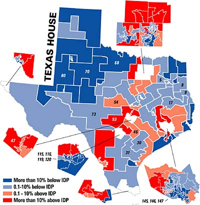 Redistricting 2001 Putting Texas Politics on the Map  News  The