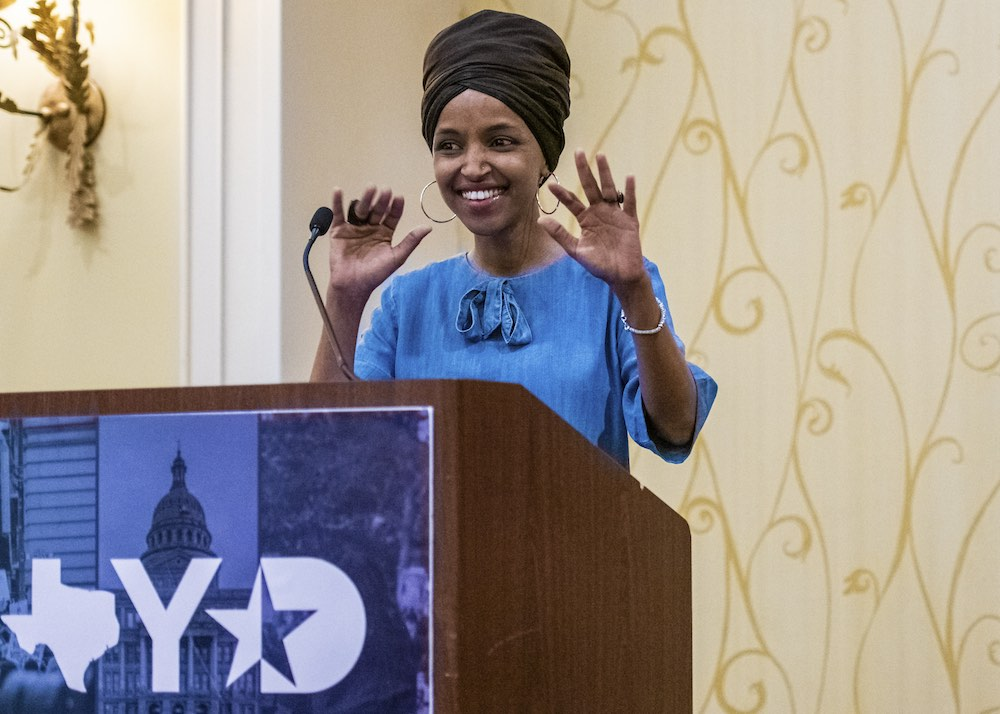 "Rep  Ilhan Omar Tells Austin Dems to Keep Fighting: ""We're going to"