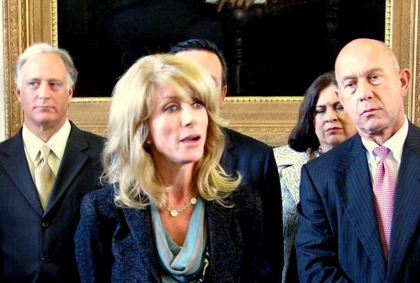 Wendy Davis, just after the 2011 school finance filibuster