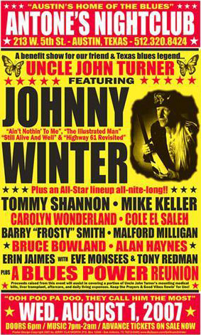 Johnny Winter Aug 1 Antone S Jerry Clayworth Best
