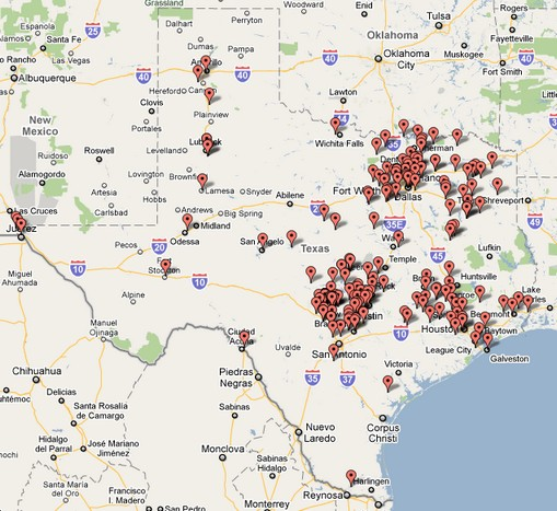 Map Of Texas Victoria.Where S The Wine An Interactive Map Of Licensed Texas Wineries As