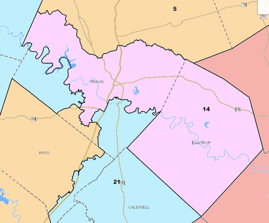kel seliger s proposed senate map would divide travis county four ways