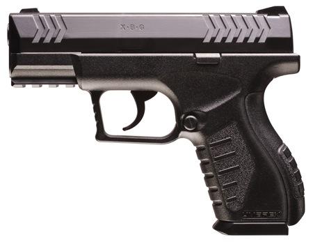 A Umarex model XBG pellet/BB pistol, like the one Smith was holding Tuesday afternoon, APD says
